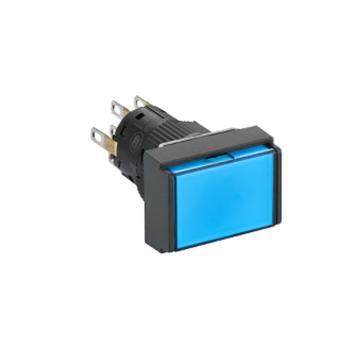 施耐德Schneider 自锁定带灯按钮,XB6EDF6B1F 长方形 蓝色 24V 1NO/N(5的倍数订货)