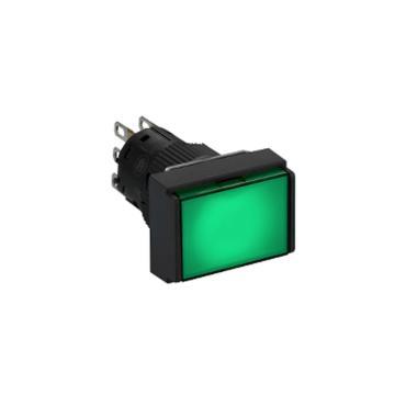 施耐德 自复位带灯按钮,XB6EDW3B1F 长方形 绿色 24V 1NO/NC