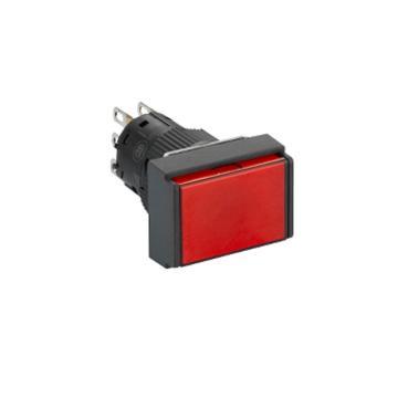 施耐德Schneider 自复位带灯按钮,XB6EDW4B1F 长方形 红色 24V 1NO/NC(5的倍数订货)