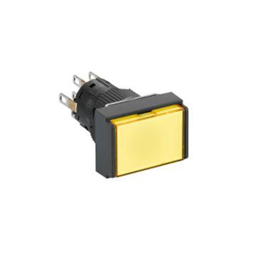 施耐德 自复位带灯按钮,XB6EDW5B2F 长方形 黄色 24V 2NO/NC