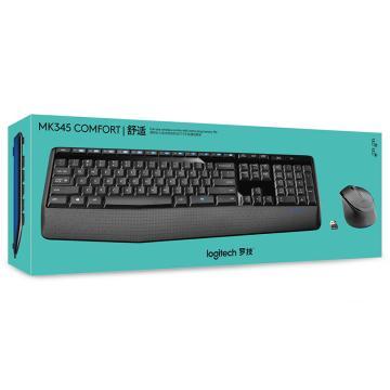 罗技 Logitech 无线键鼠套装 MK345(黑色)