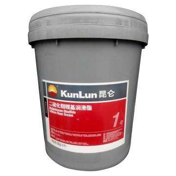 昆仑 润滑脂,二硫化钼 锂基 润滑脂1号,15kg/桶