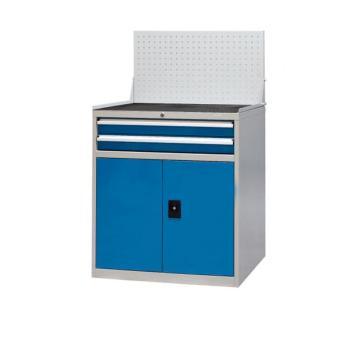 信高 固定式工具柜,(两个抽屉+门柜+挂板)蓝色,XE90-2SMG(D)