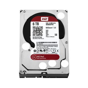 西部数据 红盘,6TB台式机硬盘(WD60EFRX/WD60EFAX) 单位:个