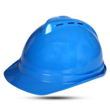 MSA 10172480 V-Gard ABS豪华型安全帽,蓝(超爱戴),正面印国电logo(国电定制款)同系列30顶起订