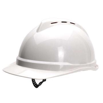 MSA 10172476 V-Gard ABS豪华型安全帽,白(超爱戴),正面印国电logo(国电定制款)同系列30顶起订