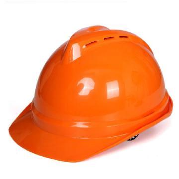 MSA V-Gard ABS标准型安全帽,橙色,超爱戴帽衬,灰针织布吸汗带,尼龙顶带,D型下颏带,10172891,正面印国电logo(国电定制款)同系列30顶起订