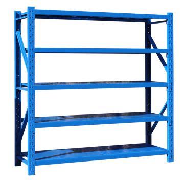 至腾 中型货架主架,尺寸(长*宽*高mm):2000*500*1800(五层搁板,300KG/层,蓝色),安装费另询