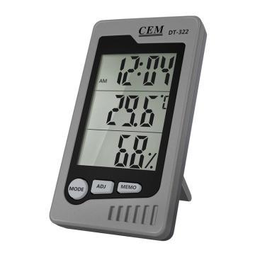 华盛昌/CEM DT-322多功能台式温湿度计