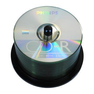 飞利浦 CD-R 飞利浦 700MB/52X(50片筒装) 银色  一次性刻录光