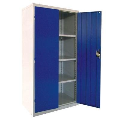 层板式置物柜, 950×550×1900mm(三块层板)蓝灰