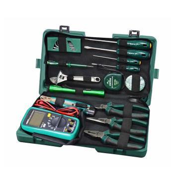 世达 定制(塑料盒)21件电工日常检修组套,EHSY-03790