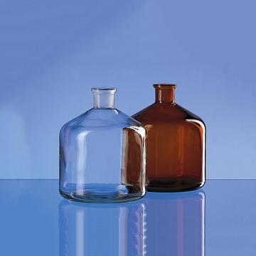 BRAND 大玻璃试剂瓶,透明,2000ml,无盖,瓶口规格 29/32
