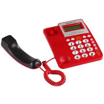 齐心 T100 电话机 多功能超值 红