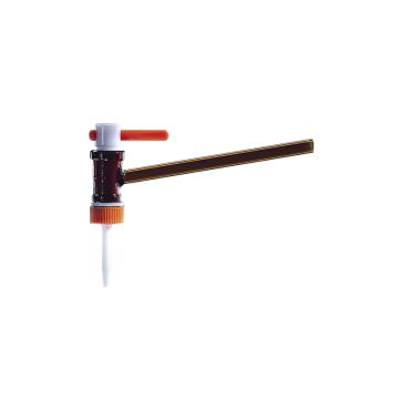 BRAND 侧滴型滴定阀,适用于25+50ml滴定管,PTFE阀芯,棕色