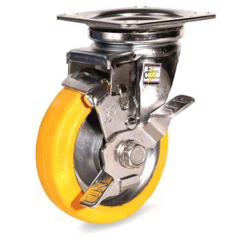 南星 防静电中型橡胶万向轮带刹 5005-2-T1-VE