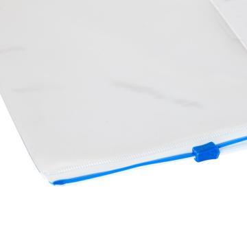 齐心拉链袋, 通用密封,A4,10个/盒  F56-1 颜色随机