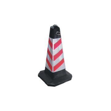 橡胶底方锥,红白路锥LZ027