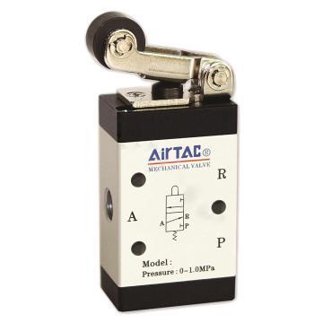 亚德客AirTAC M3R三口二位单控滚轮杠杆型机械阀,M3R110-06
