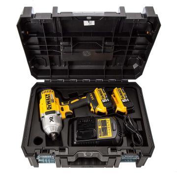 得伟充电式冲击扳手,高扭力 18V 12.7mm 2x5.0Ah电池套装,DCF899P2