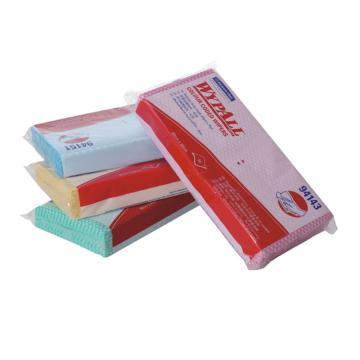 擦拭布,WYPALL 标准型彩色清洁擦拭布,蓝色 20张/包 12包/箱