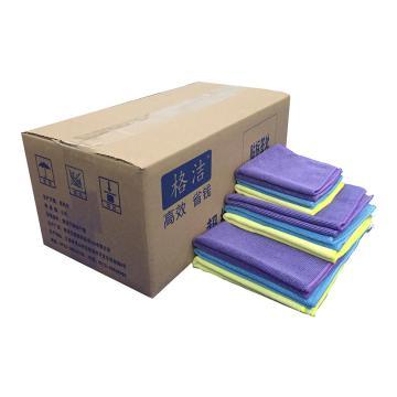超细纤维擦拭布,40cm×40cm×1片/包×25片/箱,蓝色