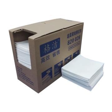 超柔精细擦拭布 折叠式 30cm×35cm×300张/盒 4盒/箱 白色