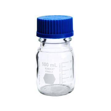 玻璃蓝盖试剂瓶,100ml,GL45,PP盖