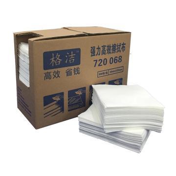 强力高效擦拭布 折叠式 30cm×35cm×300张/盒 4盒/箱 白色