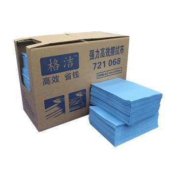 强力高效擦拭布 折叠式 30cm×35cm×300张/盒 4盒/箱  蓝色