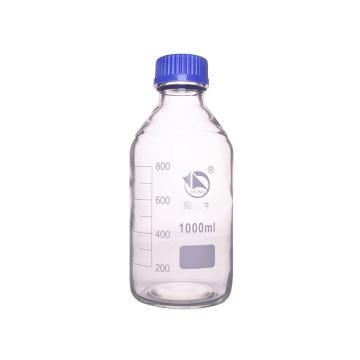 蜀牛蓝盖试剂瓶(白色),耐高温140℃,1000ml