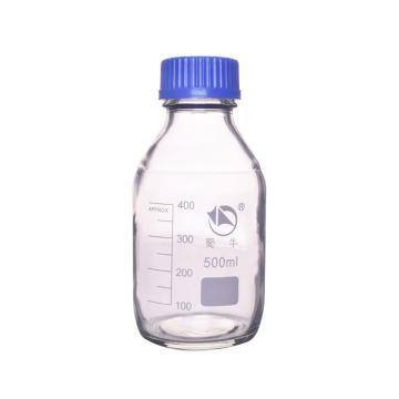蜀牛蓝盖试剂瓶(白色),耐高温140℃,500ml