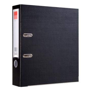 齐心快劳夹, 超省钱 欧式,A4,3寸,黑,5个/盒  a106n