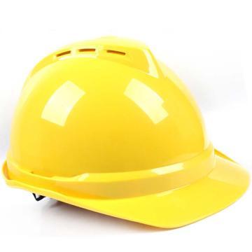 PE双威安全帽,防撞击,易拉宝调节大小,有耳机插槽,有通风孔,轻便,可更换帽衬,印嘉士伯LOGO,黄(嘉士伯专供)