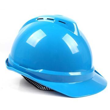 PE双威安全帽,防撞击,易拉宝调节大小,有耳机插槽,有通风孔,轻便,可更换帽衬,印嘉士伯LOGO,蓝(嘉士伯专供)