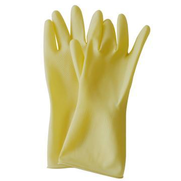 东方红 乳胶防化手套,100克加厚型 L号