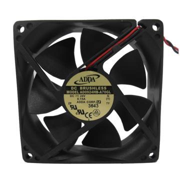 ADDA 散热风扇 AD0924HB-A70GL,DC24V,92×92×25mm