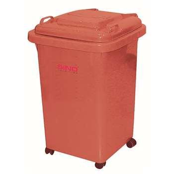 塑料垃圾桶,小型移动垃圾桶,50L(含盖60L),红