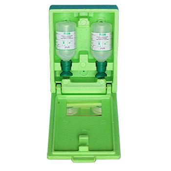 Plum洗眼液套装,含2瓶弱酸、弱碱、颗粒物、粉尘洗眼液,16盎司(500ml)+防尘防静电箱,4600