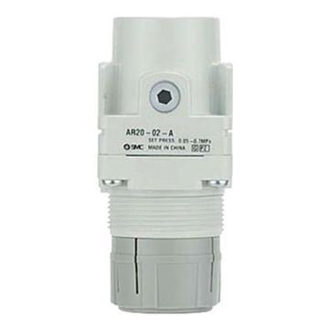 SMC 减压阀,接管M5,设定压力0.5-7Mpa,AR10-M5-A