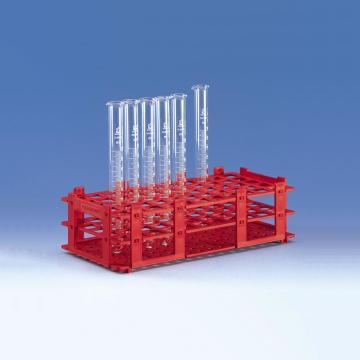 BRAND试管架,可放置55只最大直径为16mm的试管,红色,5个/包