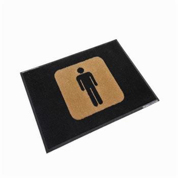 洗手间标示垫,(男)85*60cm*1cm