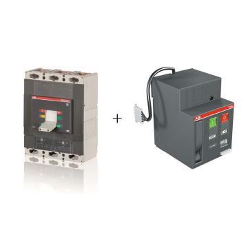 ABB 塑壳断路器+电动机操作机构,T5H630 TMA500/2500-5000 FF 3P+MOE 220-250VAC/DC T4-5