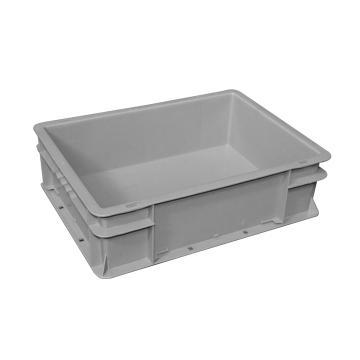 (全新料)周转箱,可堆叠周转箱, 600×400×148mm(灰)