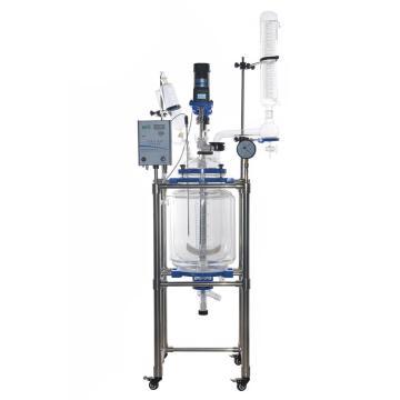 科泰 双层玻璃反应釜,物料容积100L,GK-100双层