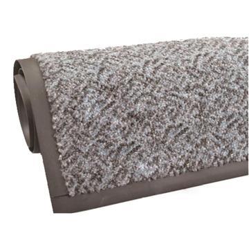 吸水控尘垫,耐用吸水控尘尼龙橡胶地垫, 钉底 灰色 115cm*240cm*1cm