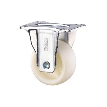 SUPO 01款镀铬2寸固定奶白色PA轮 C01-04-50-614