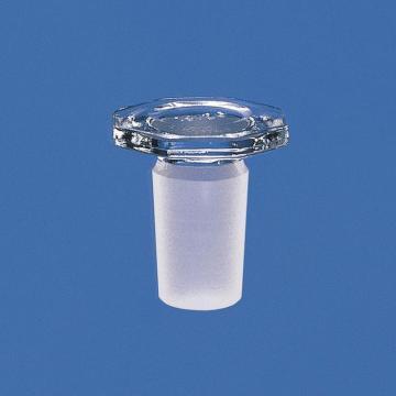 BRAND锥形磨口瓶塞,硼硅酸盐玻璃,14/23,八角形,实心