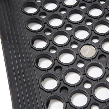 抗疲劳垫,安全防滑抗疲劳孔垫, 拼接型 黑色 915*915*9.6mm