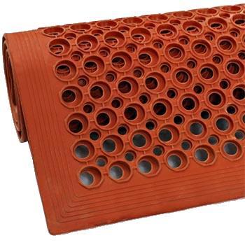 抗疲劳垫,安全防滑抗疲劳孔垫, 红 915*1524*11mm
